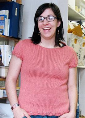 Knitting Gallery - Folded Cowl Tee Stefanie