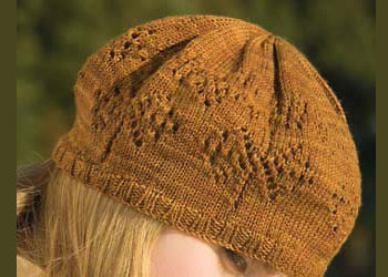 Knit the Fountain Hat, which is a free knitted lace pattern in this eBook.