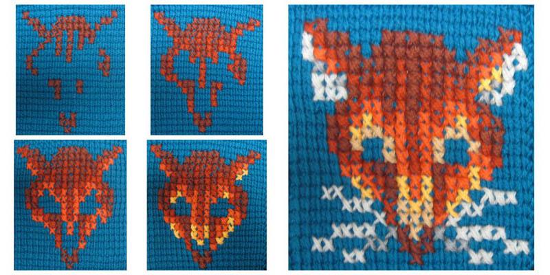 Cross-Stitch on Tunisian Crochet