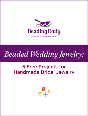 Learn how to make handmade bridal jewelry and more in this FREE eBook on beaded wedding jewelry projects