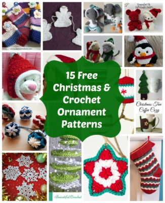 15 free crochet christmas ornaments and holiday patterns