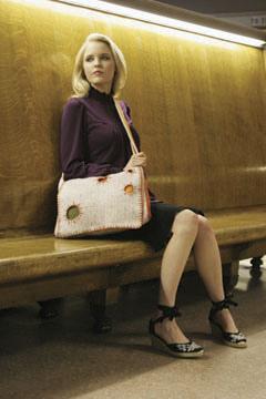 free crochet messenger bag pattern by Julie Armstrong Holetz | CrochetMe.com