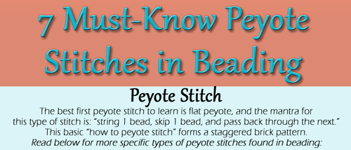 Peyote stitch bead weaving patterns | beadaholique.
