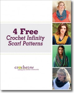 FREE crochet infinity scarf patterns.