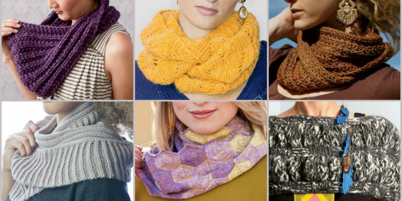 Get 7 Free Knitted Infinity Scarf Patterns!