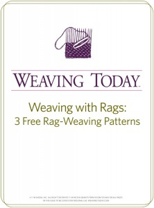 The free Weaving with Rags: 3 Free Rag Weaving Patterns eBook is for weavers looking to get rid of left over fabric to create beautiful weaving patterns.