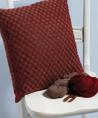 Learn how to use a rigid heddle loom with this free handwoven cushion project.