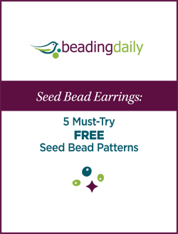 Learn how to make seed bead earrings with this FREE eBook that contains 5 seed bead patterns and more.