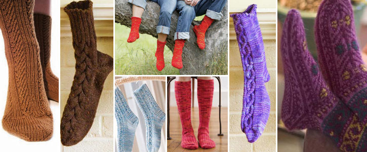 From luxurious to bulky, fast to fabulous, check out all of these free ideas for knit socks.