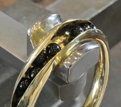 Bill Fretz making concave bracelets with movement