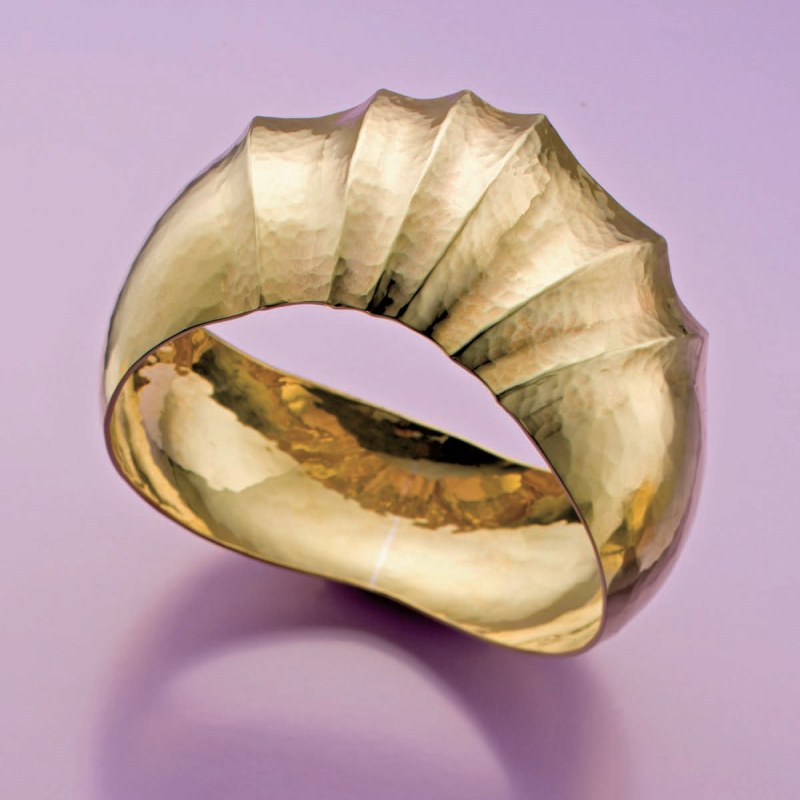 bracelets: Bill Fretz domed fluted bangle