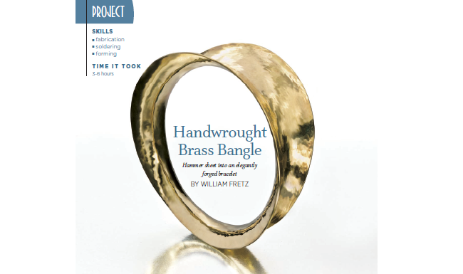 bracelets: Bill Fretz handwrought brass bangle
