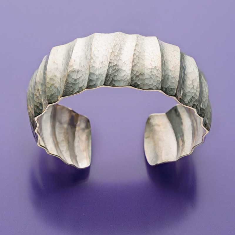 5 Favorite Jewelry Making Projects That Surprise Us, Fluted cuff, Bill Fretz