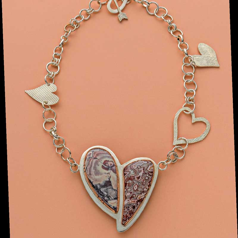 5 Favorite Jewelry Making Projects That Surprise Us, Fulkerson heart-to-heart necklace