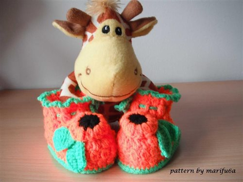 How To Crochet Baby Booties Free Pattern Tutorial For Beginners