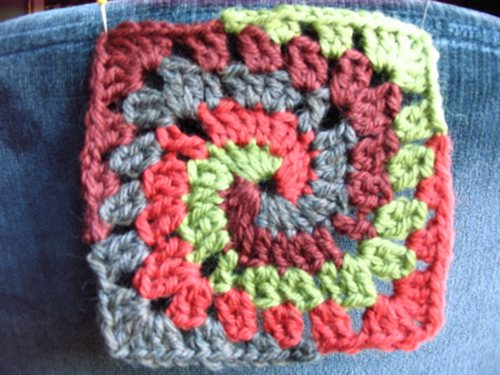 how to make a granny square without the magic circle