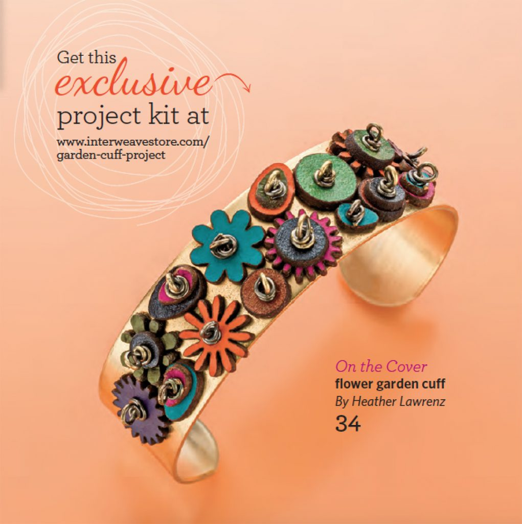 Garden Cuff by Heather Lawrenz, from the Step by Step Wire Jewelry, August/September 2016