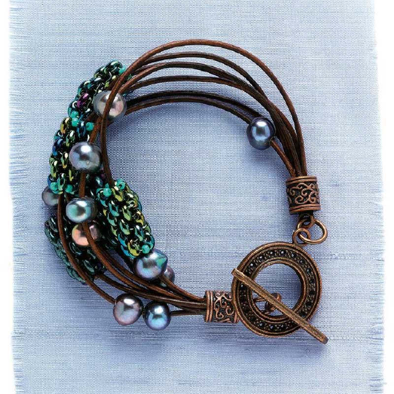 Leather jewelry-making project from Create Leather Jewelry eBook.