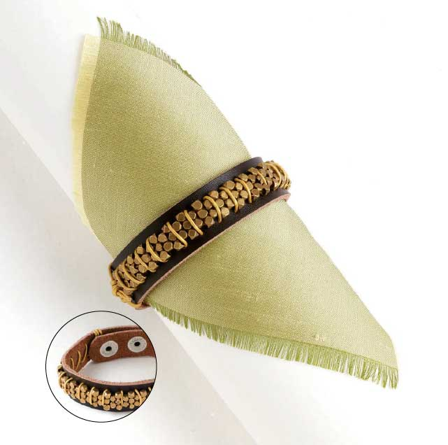 Gold Rush Cuff by Michelle Mach from Create Leather Jewelry ebook.
