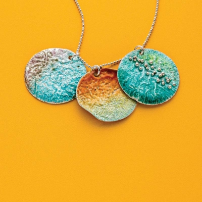 Learn reticulation and torch-fired enameling with Kieu Pham Gray; photo: Jim Lawson
