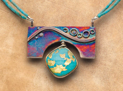 Love a rainbow patina? Check out Kieu Pham Gray's Turquoise Surprise pendant. Photo: Jim Lawson