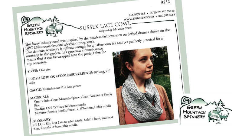 green mountain sussex lace cowl pattern