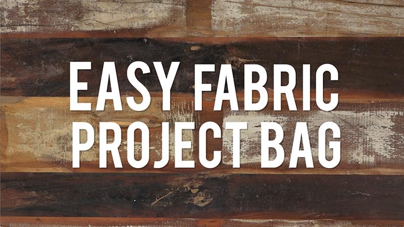 Easy DIY Project Bag
