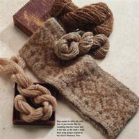 Free Headband Project from Handspun Fiber