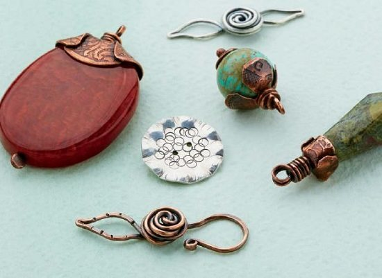 handcrafted metal findings by Denise Peck
