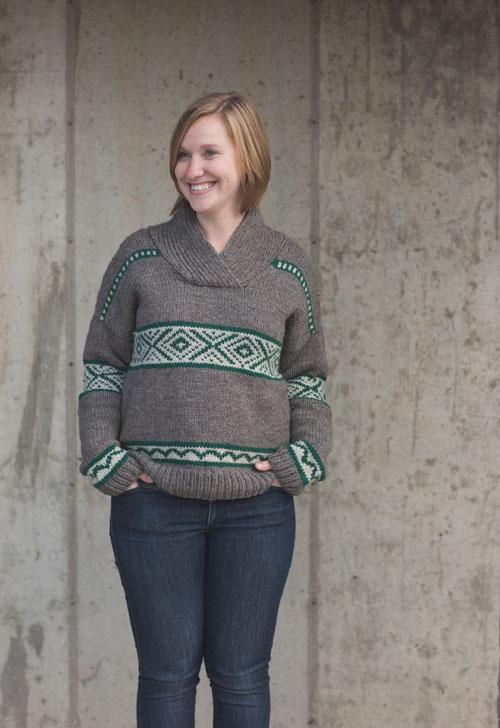 hawkherst knit sweater pattern