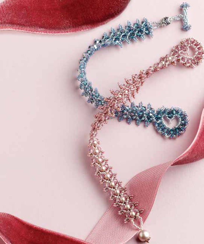 Learn how to make crystal jewelry with this heart-toggle clasp bracelet design.