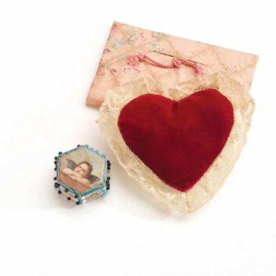 handmade heart sachet