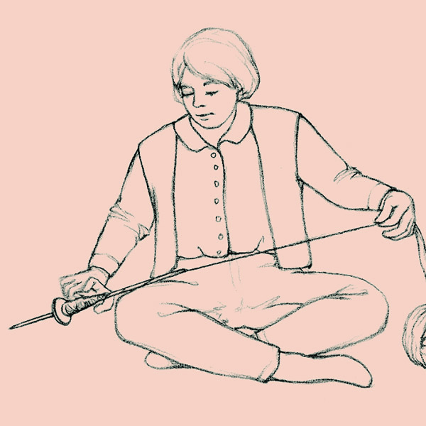 Connie Delaney explains how to make and use a now-rare Southwestern style of spindle, the Hohokam. Illustration by Susan Strawn