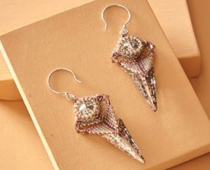 Learn how to make holiday jewelry, such as these beaded earrings, in our FREE eBook on holiday jewelry and decor.