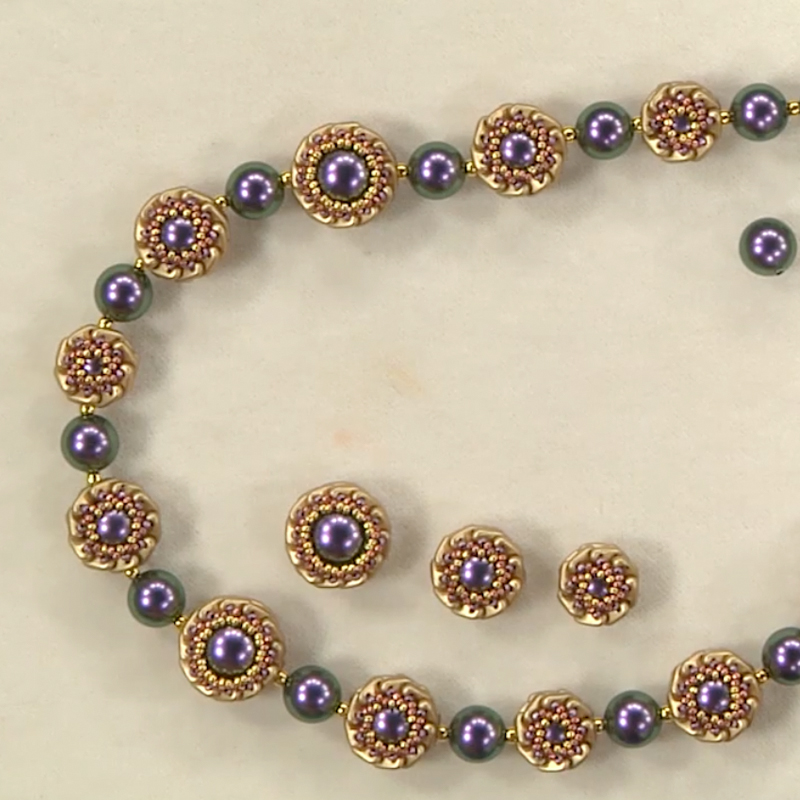 How to Design Beaded Beads Like a Pro Using Two-Hole Shaped Beads ...