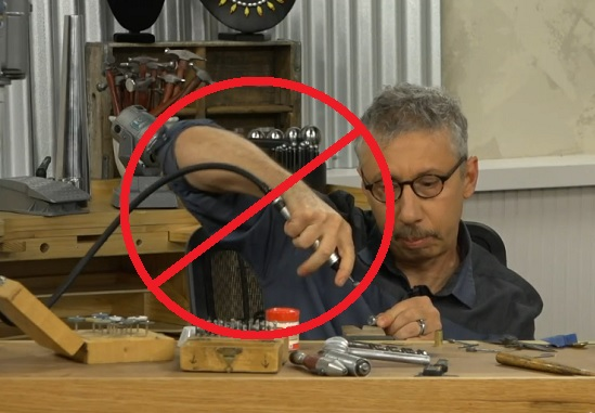 how not to use a flex shaft with Andy Cooperman