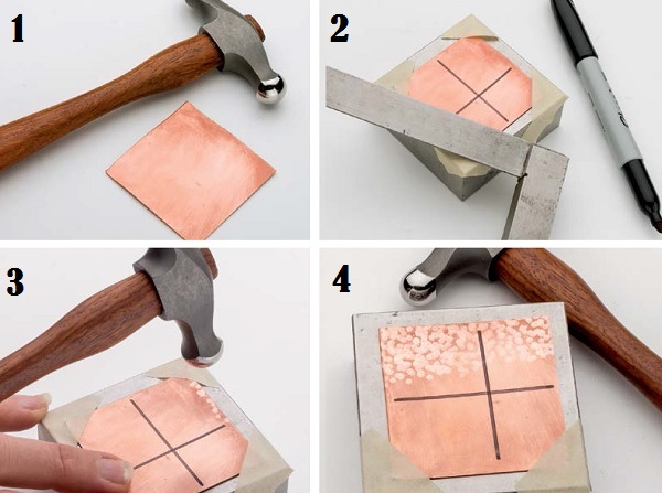 Learn how to hammer an even texture into metal with these step-by-step instructions.