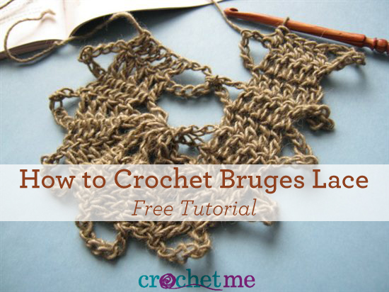 Learn how to crochet bruges lace with this free tutorial