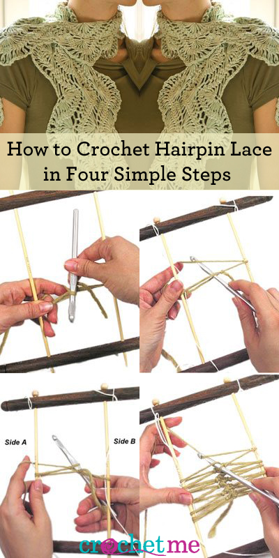 Learn how to crochet hairpin lace in four simple steps in this guide from Interweave!