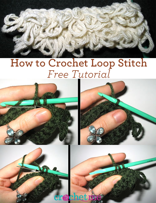 Free Loop Stitch Tutorial Learn How To Loop Stitch Crochet Interweave