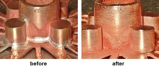 Learn how to hide visible silvery solder seams on copper with this handy trick!