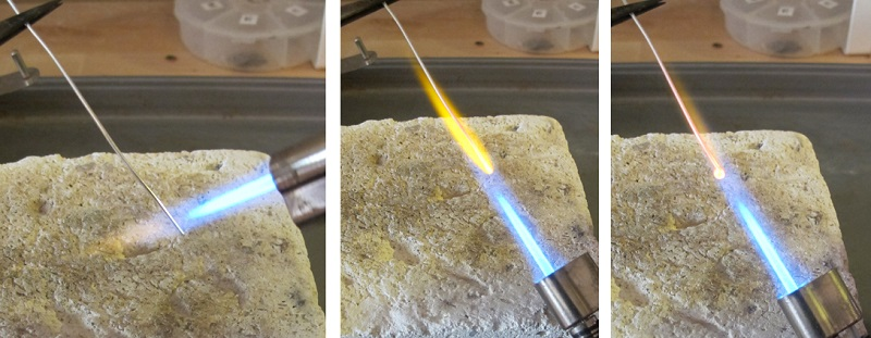 how to make a balled head pin with a micro torch