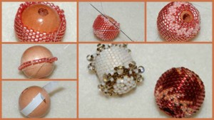 Learn everything you've always wanted to know about beading over wood beads in this free project involving beaded beads.