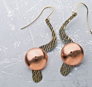 The Wear Them Tonight Earrings are a jewelry making project found in our free How to Make Earrings at Home eBook.