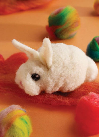 Learn how to make felt toys in this free guide on preparing and felting fiber and yarn.