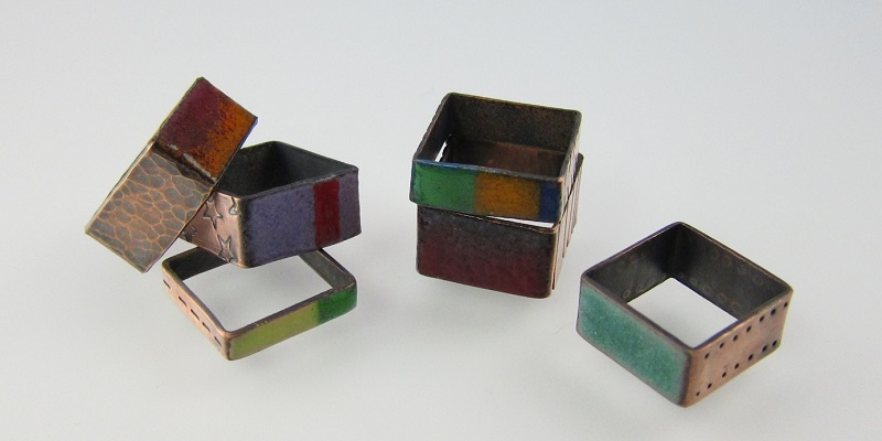 Colorful Copper: Make Square Rings Using Enamel or Resin and Hardware-Store Copper Pipe