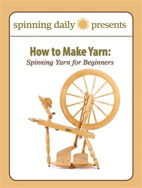 Learn how to make yarn with a spinning wheel in this exclusive, free ebook from Interweave.