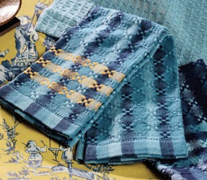 Learn how to huck weave this towel weaving pattern in this FREE eBook that contains 3 free huck lace weaving patterns.