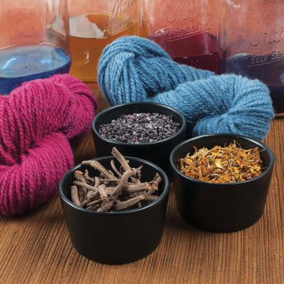 Natural dyes have a reputation for producing muted hues, but they can be vivid if used skillfully.