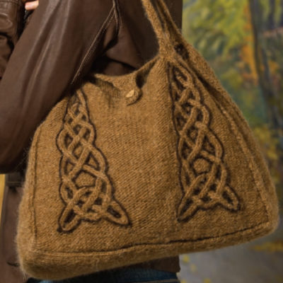 Learn how to felt knitting with these free knitting patterns on felted bags.